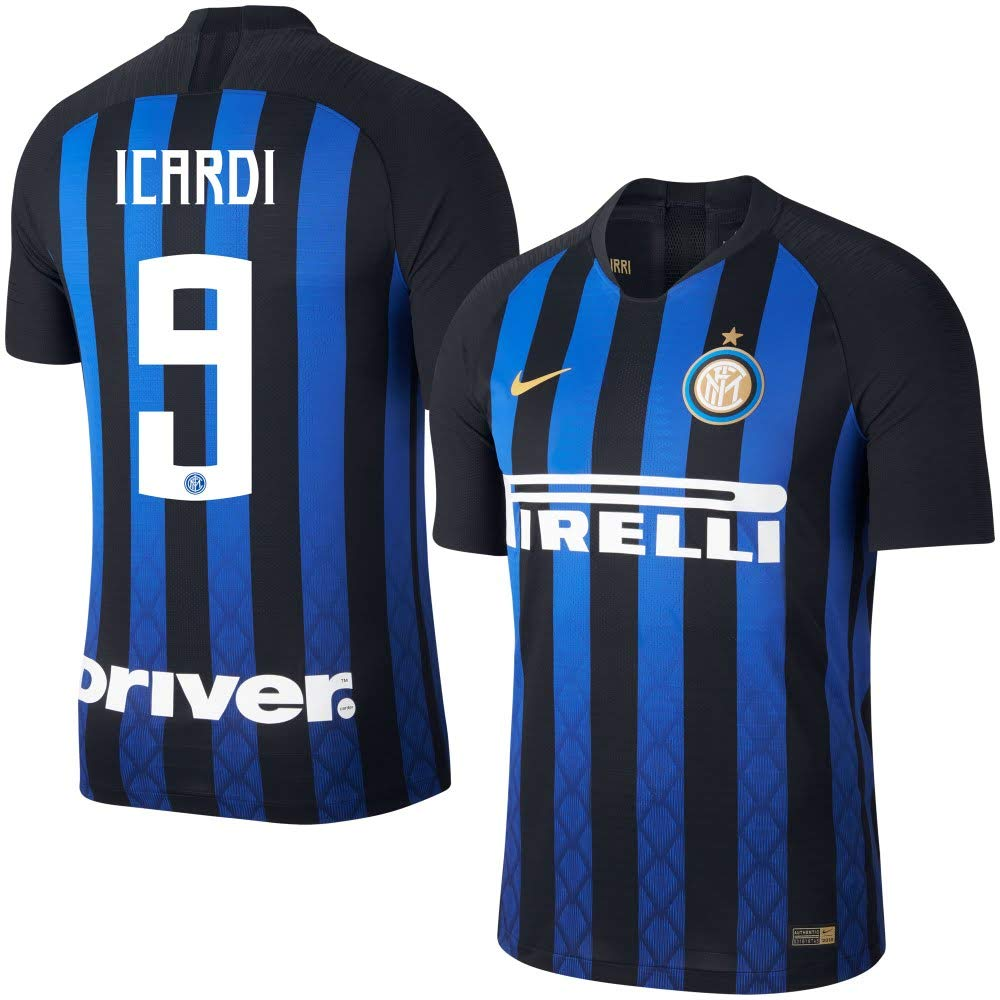 4faea7048 Amazon.com : Nike Inter Milan Home Vapor Match Icardi 9 Jersey 2018/2019 :  Sports & Outdoors