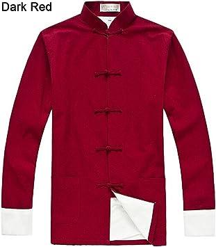 Damen Leinen Baumwolle Lang Mantel Jacke Chinesisch Kungfu Taichi Freizeit Top