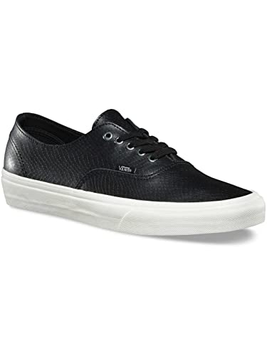 c8e0afa87a Vans Womens Authentic Decon Black White Leather Trainers 6.5 US