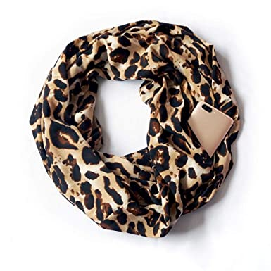 Femme ChèChe ÉCharpe Double Echarpe Pochette SecrèTe Foulard Leopard  MéLangé Carreaux Polka Dots Chaud Pas Cher Size14.4X70.8   (A)  Amazon.fr   Vêtements et ... 0d7d15bffc3