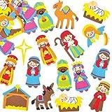 Adesivi Natalizi in Schiuma per Bambini, per Creazioni Fai Da Te di Natale (confezione da 96)
