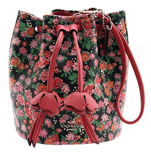 COACH Floral Print Coated Canvas Petal Wristlet (Pink Multi) - Coated Canvas