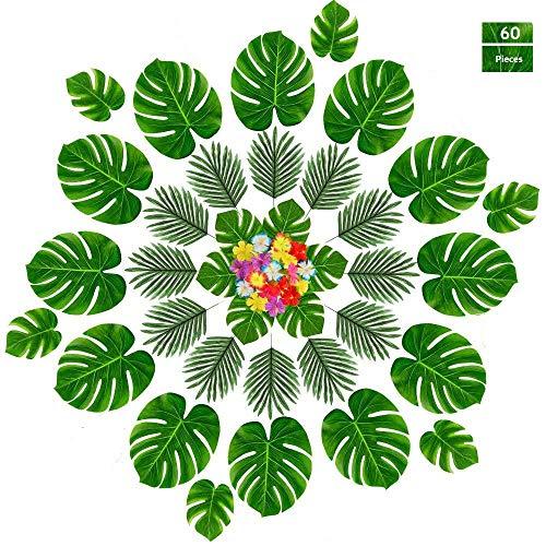 (60 Pcs Tropical Party Decoration Supplies13