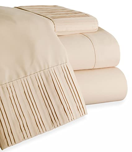 Amazon Com Bed Bath Outlet Highest Quality Pleated 1800 Series 4