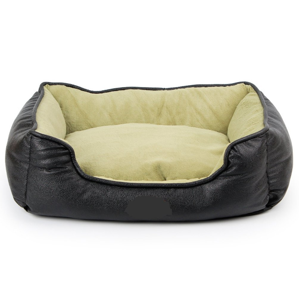 Black S-48x38x13cm Black S-48x38x13cm Komia Square Bed Foam for Dog Cats Indoor Padd