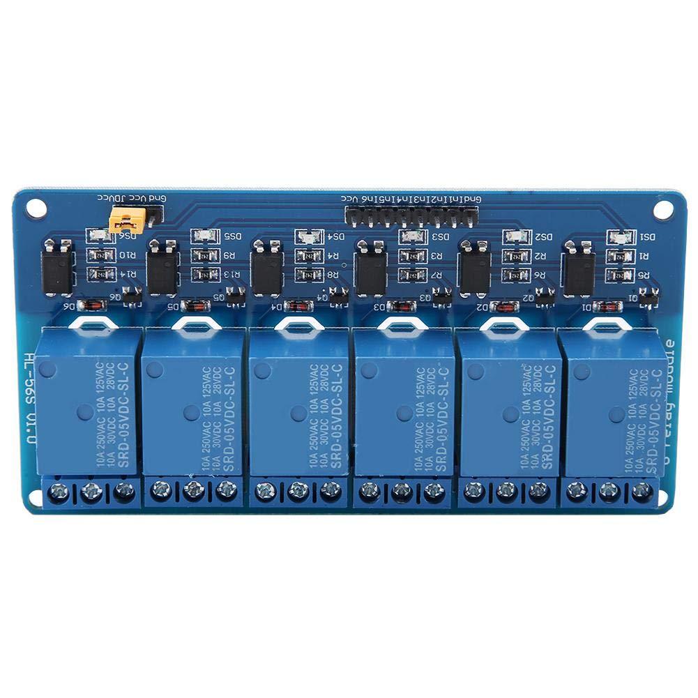 Optional 24V 6 Channel Relay Module,Low Level Trigger Relay Module With Optocoupler,5V//12V//24V