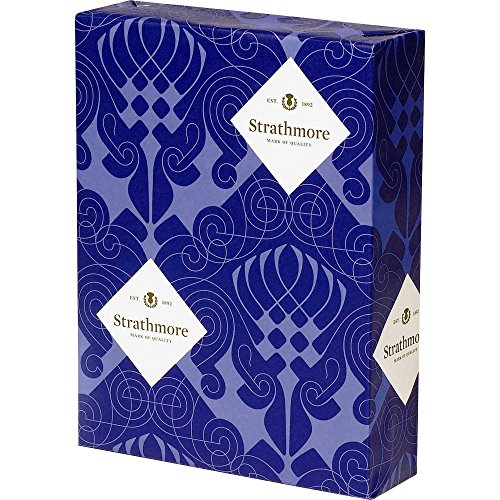 Strathmore Writing 25% Cotton Stationery Paper Wove Finish Natural White Shade Watermarked, 24 lb  8.5x11 Inch 500 Sheets/Ream - Sold as 1 Ream ()