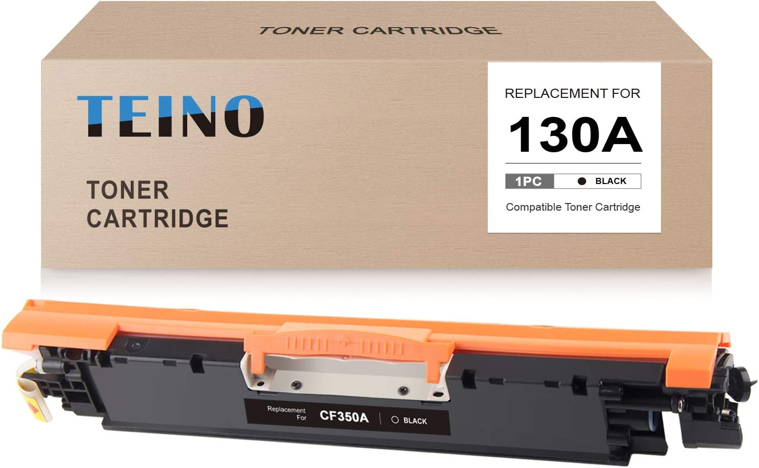 TEINO Compatible Toner Cartridge Replacement for HP 130A CF350A use with HP Color Laserjet Pro MFP M177fw M176 M176fn Color Laserjet Pro M177 (Black, 1-Pack)