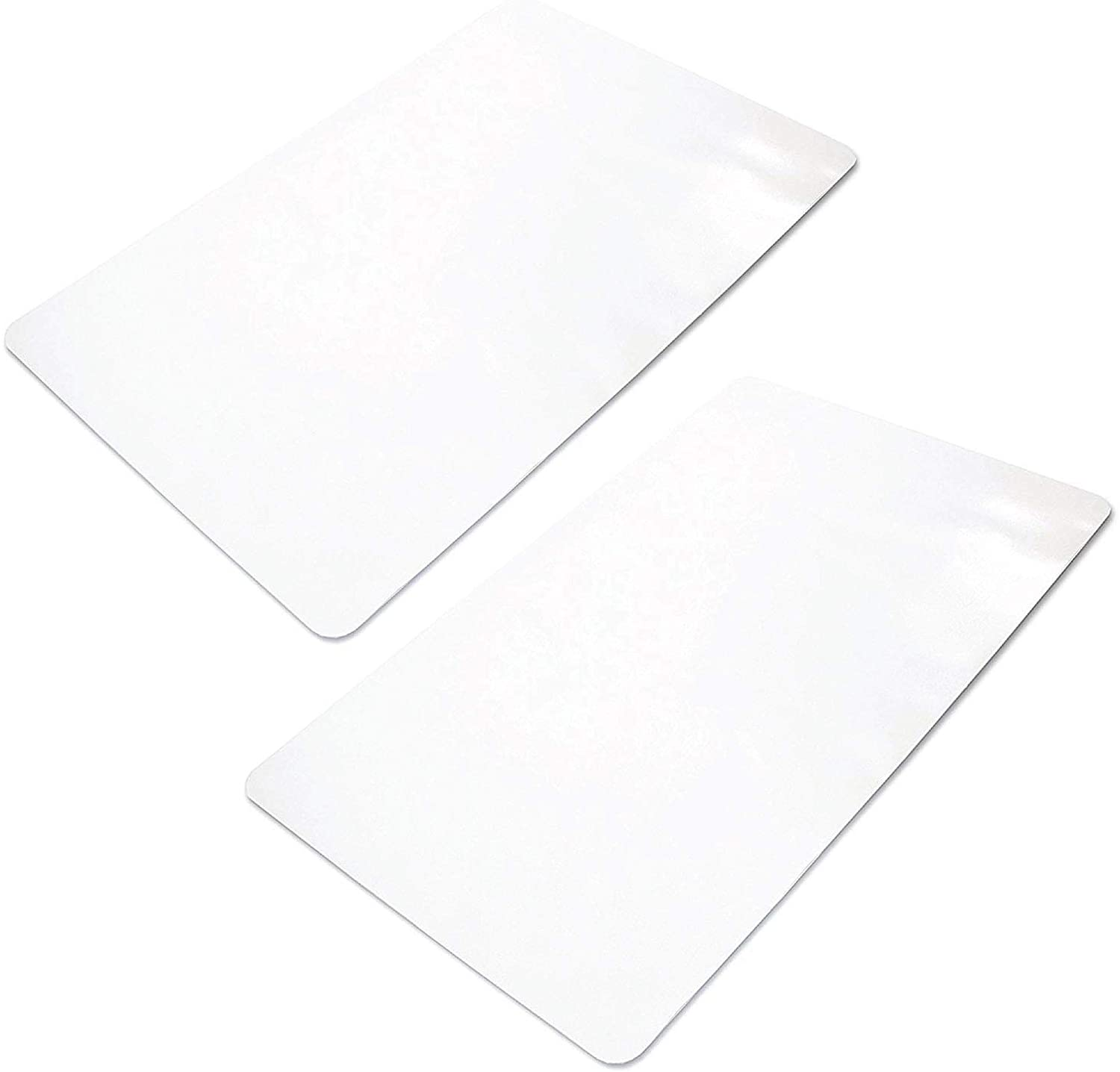 """Ilyapa Office Chair Mat for Hard Floors 2 Pack 30"""" x 48"""" Heavy Duty Clear, PVC Chair Mat for Hardwood and Tile Floors, Protective Floor Mat for Home or Office"""