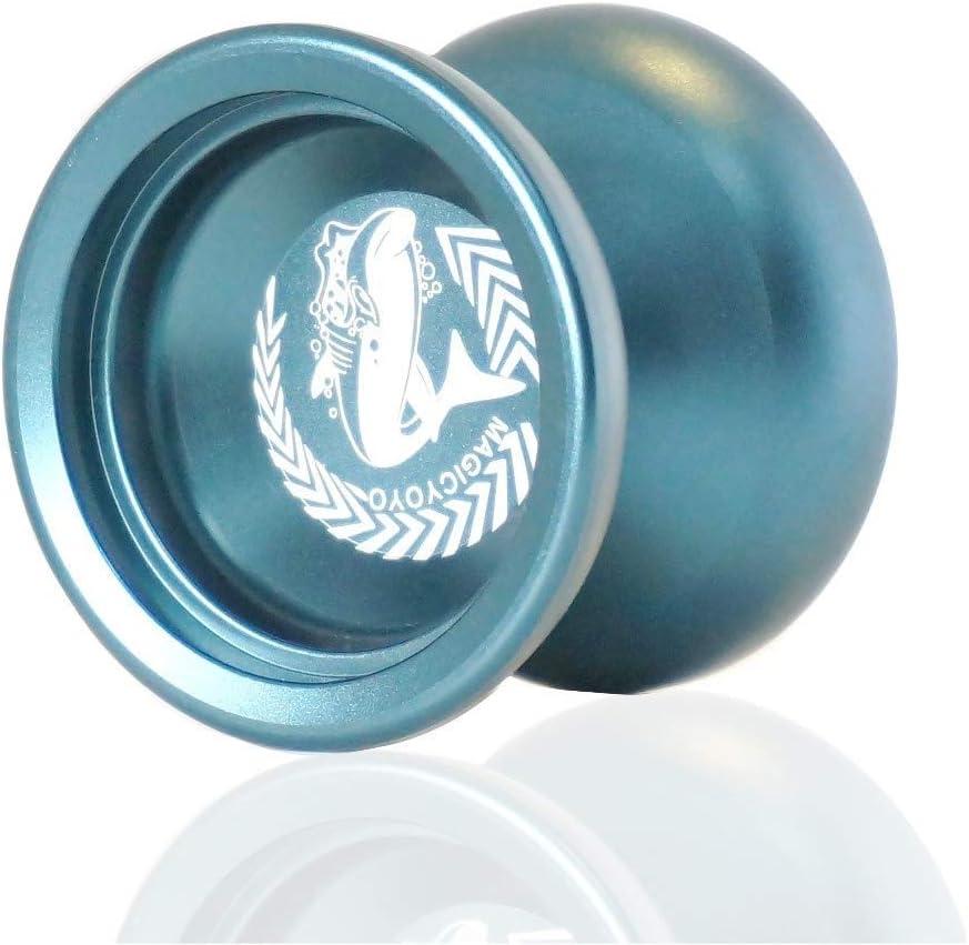 GPWDSN YOYO yoyo Glow Holy Grail YOYO CNC Metal KK Bearing YO-YO Professional Yoyo Toys Props Especiales diabolo (Color: Azul Plateado), yoyo Green Lake