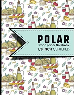 polar graph paper notebook 1 8 inch centered technical sketchbook