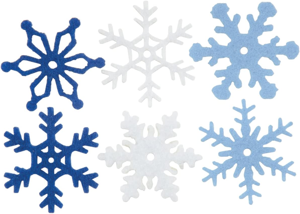 Creative Impressions 2-Inch Shimmer Snowflakes Large 50 Per Package