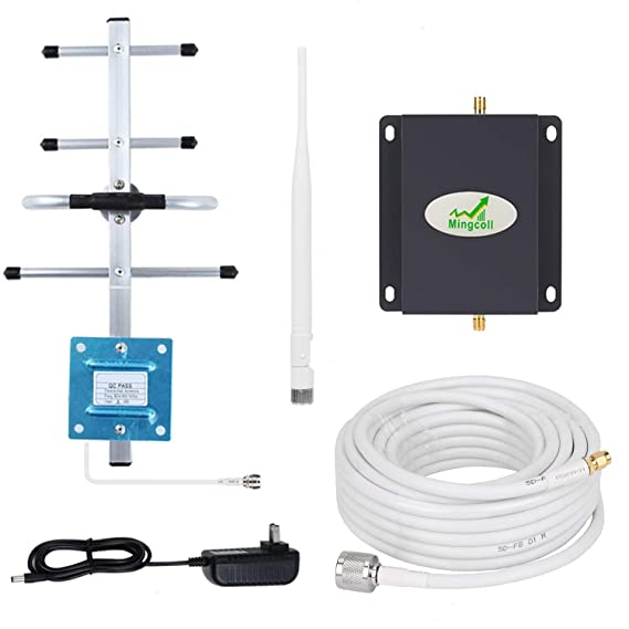 Cell Phone Signal Booster Verizon 4G LTE Cell Phone Signal Amplifier Repeater for Home and Office, Mingcoll 700MHz Band 13 Mobile Signal Booster ...