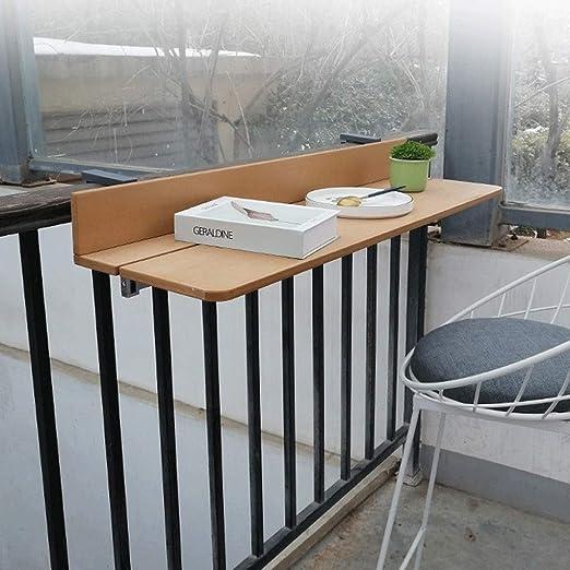 Ailj Ajustable Marrón Mesa Plegable Balcon, Colgante Plegable ...