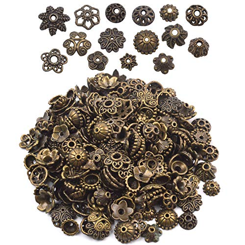 Bali Style Bead Cap - BronaGrand 100 Gram(About 150-250pcs) Bali Style Jewelry Making Metal Bead Caps Deluxe New Mix,Bronze