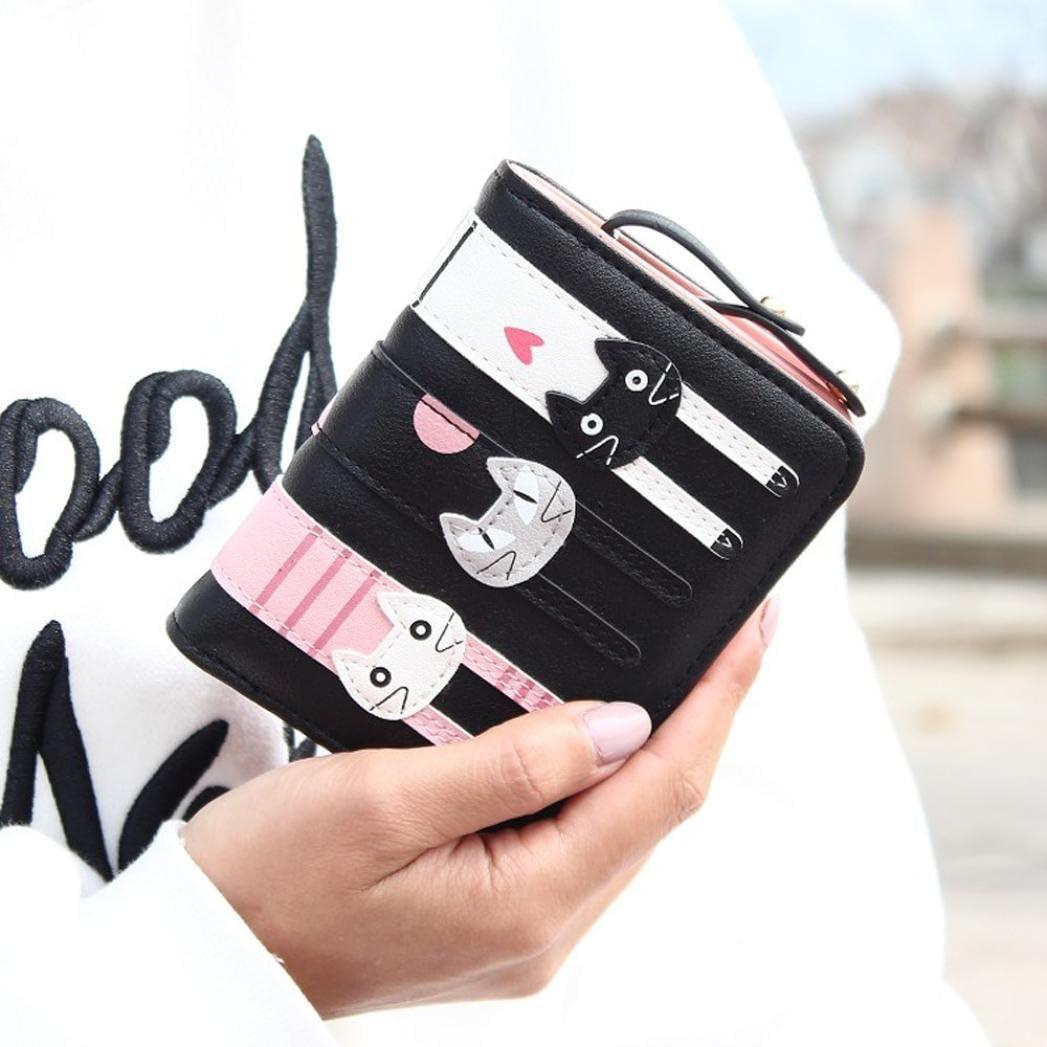 Winhurn Women Super Lovely Bifold PU Leather Mini Wallet Card Holder Purse
