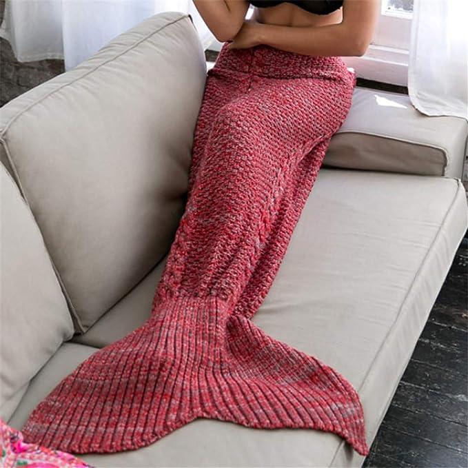 Amazon.com: L-APZRIER - Manta de cola de sirena, manta de ...
