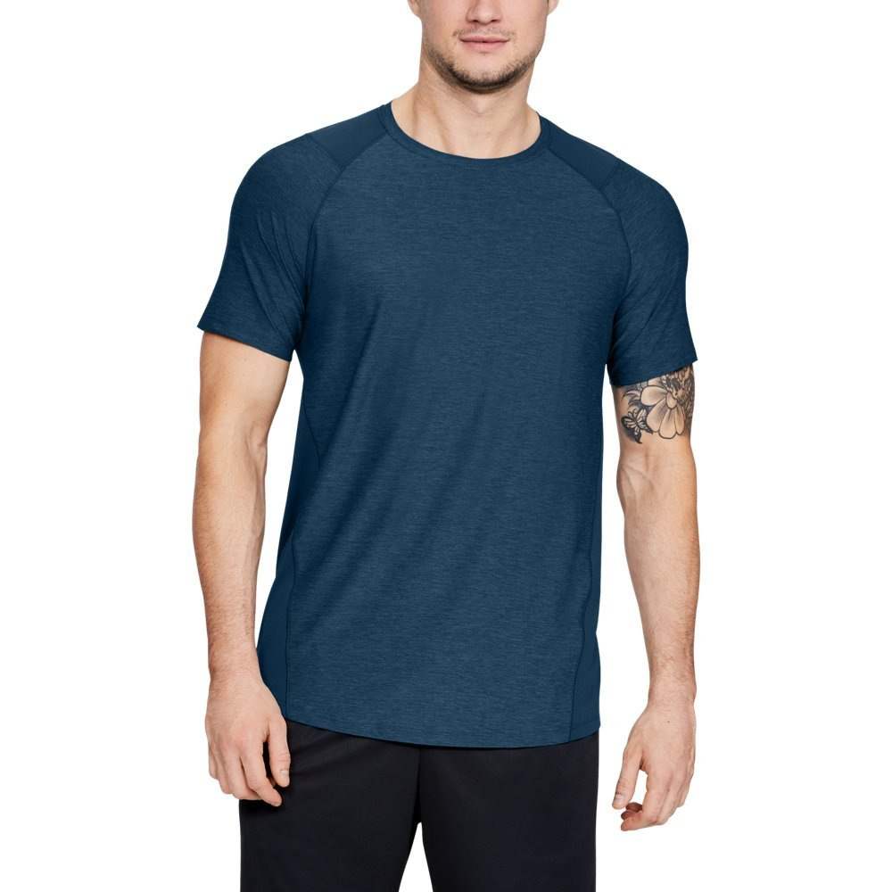 Under Armour Men's MK1 Short Sleeve T-Shirt, Techno Teal (489)/Black, Large by Under Armour