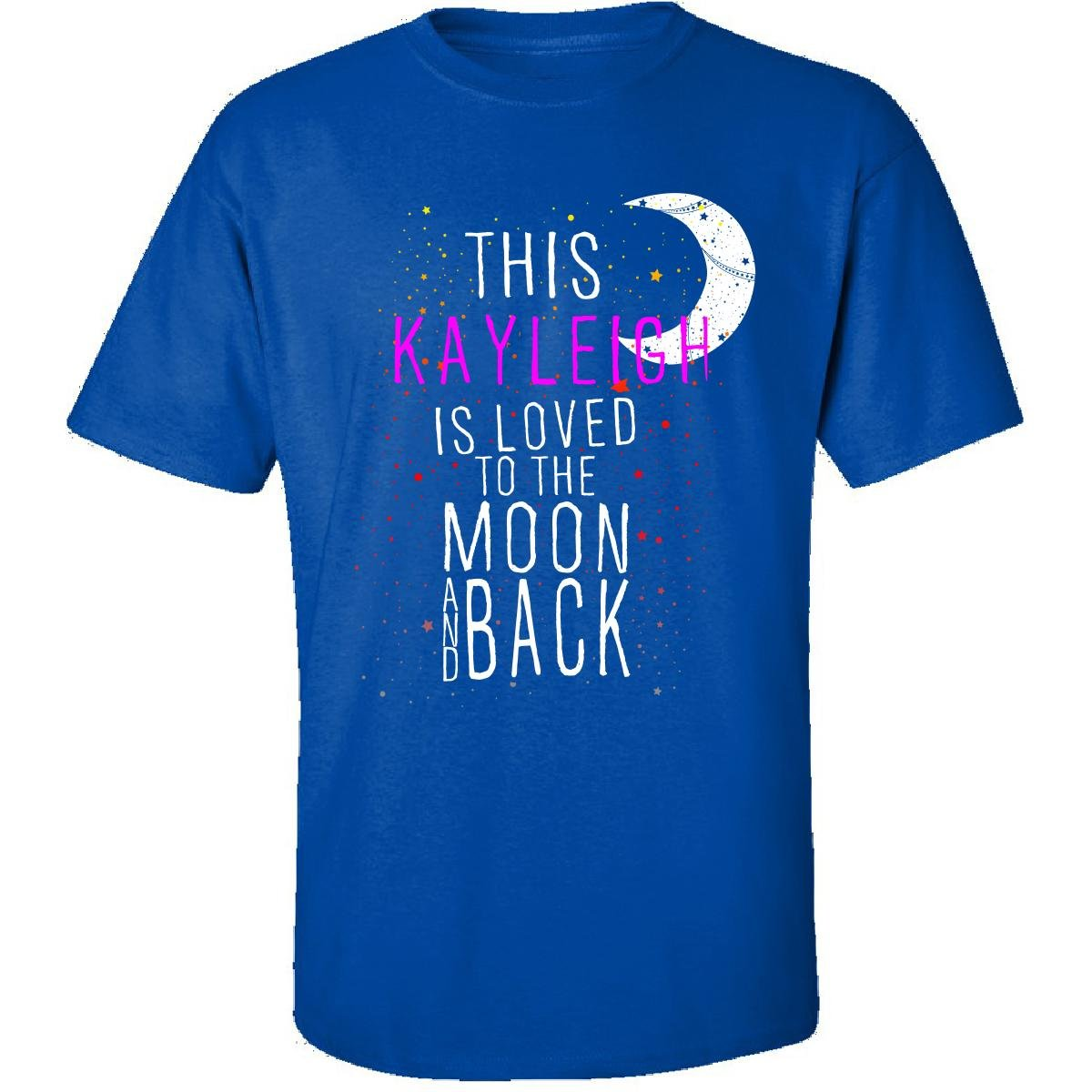This Kayleigh Is Loved To The Moon And Back Christmas - Adult Shirt ...