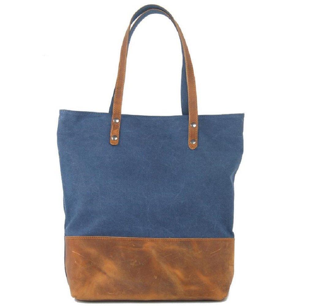 ZC&J Damen Retro-Segeltuchleder im Freienspielraum-Beutelbeutel, feste Abnutzung 12L Hochleistungs-High-End-Outdoor-Handtasche