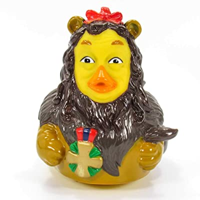 CelebriDucks Cowardly Lion Wizard of Oz Rubber Duck Bath Toys Hermetically Sealed and Mold Free: Toys & Games