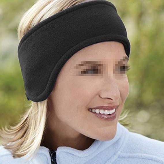 Fleece Winter Stirnband Ohrwärmer für Männer Frauen Skifahren Laufen Yoga Z1A4