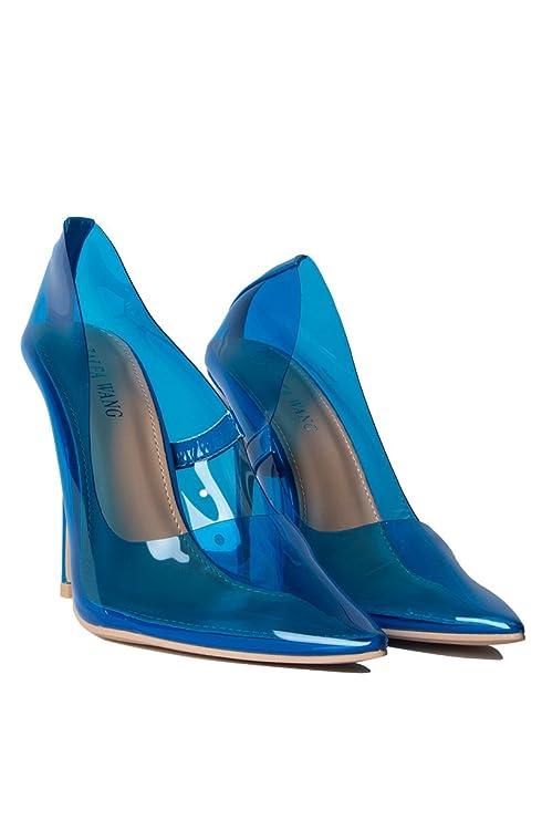 48f3ae7eb3c Amazon.com  AZALEA WANG Color Pop PVC See Through Clear Kim K Sexy Stiletto  Heels Pumps  Clothing