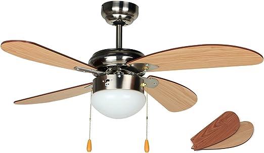 Orbegozo CP 70095 Ventilador de techo con luz, 4 palas, diámetro ...