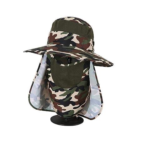 Sombreros Sombrero para El Sol Lado Ancho Plegable Gorra De Pesca ...