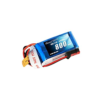 Gens ace 800mAh 2S 7.4V 40C LiPo Battery Pack with JST-SYP Plug for 250 Helicopter 800mm Warbird: Home Audio & Theater
