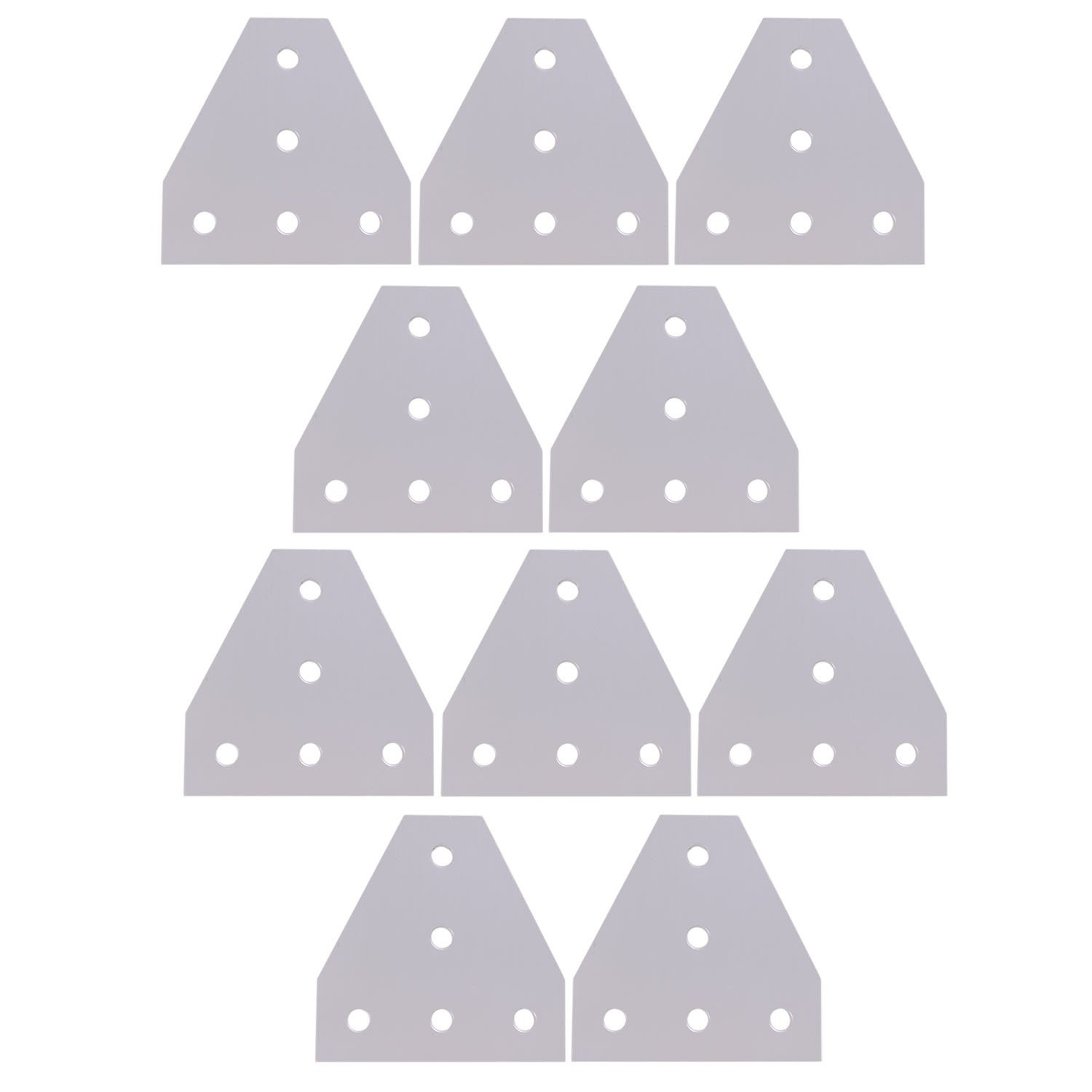 Mergorun,3D Printer Aluminum T Shaped 5 Hole 90x90x4mm Joining Plate for 3030 v-slot/T-slot Aluminum Extrusion Pack of 10