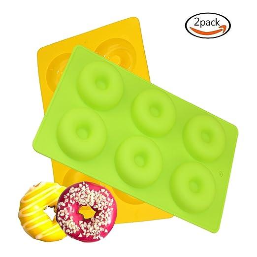 Donut - Molde de silicona para horno, antiadherente, sin BPA, apto ...