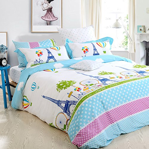 Amazon.com: FADFAY Home Textile Girls Paris Eiffel Tower Bedding Sets Twin  Full Queen: Home U0026 Kitchen