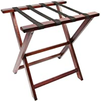 WoodLuv–Cesto plegable equipaje accesorio de maleta soporte, madera