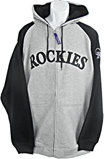 VF Colorado Rockies MLB Mens Majestic Full Zip Hoodie Sweatshirt Gray Big    Tall Sizes d9606f385