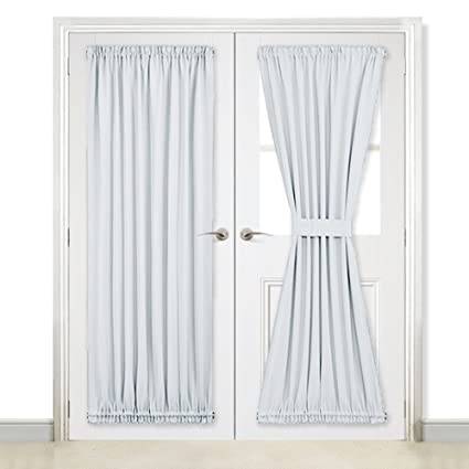 Nicetown French Door Blackout Curtain Thermal Insulated Drapery 54