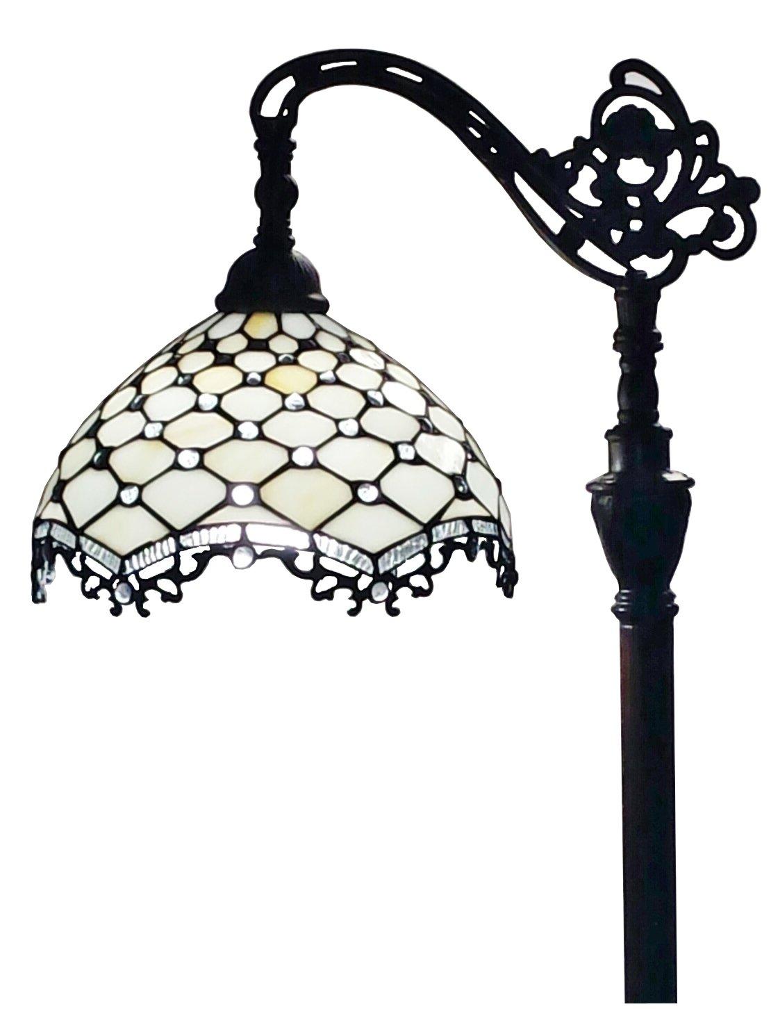 Amora Lighting AM122FL12 Jeweled Reading Floor Lamp 62 In by Amora Lighting