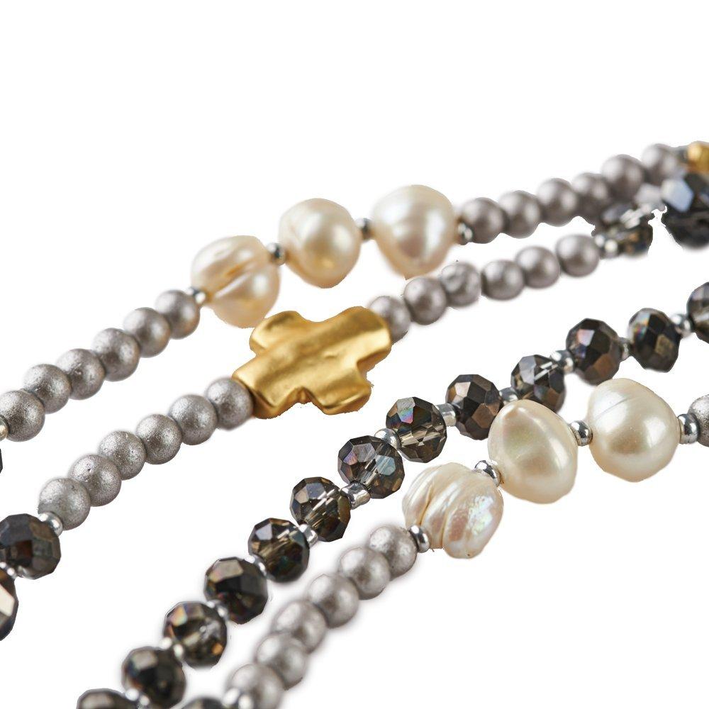 6bce9ad2bee8 LuckyLy - Collares de Mujer Largos Estilo Wrap - Collar Mujer Perlas Alice  Multi-Vueltas