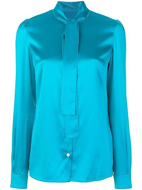 1f8ef0d9826a Dolce E Gabbana Blusa Donna F5i11tfuragv9176 Seta Azzurro: Amazon.it:  Abbigliamento
