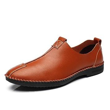 Hongjun-shoes, Calzado Casual Casual para Hombres de Microfibra Deslizamiento Superior para Caminar Zapatos para Conducir Mocasines de Ocio Ligeros Punta ...