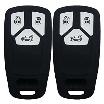 2018 audi key fob cover.  key 2pcs coolbestda rubber smart key fob cover case full protector skin remote  keyless entry for 8s0959754m inside 2018 audi key fob cover