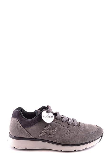Hogan Hombre Mcbi28407 Gris Gamuza Zapatillas: Amazon.es: Zapatos y complementos
