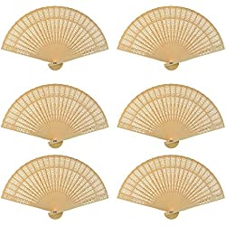 Dxhycc Sandalwood Fan (Set of 24 pcs) Wedding Favors