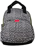 Betsey Johnson Women's Dots Backpack, Black/White Polka Dot