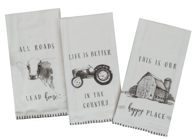 Kay Dee Designs Farmers Market Assorted Set Flour Sack Towels, Set of 3