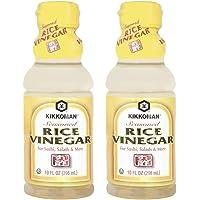 Kikkoman Seasoned Rice Vinegar (2 Pack, Total of 20fl.oz)