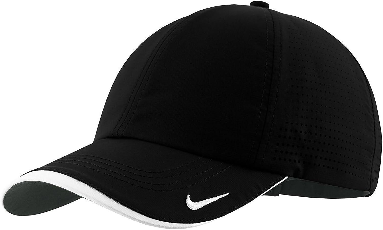 Nike Golf - Dri-FIT Swoosh Perforated Cap , 429467, Black, No Size: Clothing