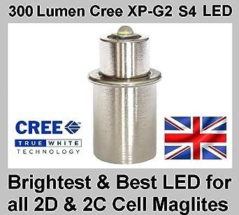 TheTorchSite TTS-3WCR45 Maglite - Bombilla led para linternas (180 lúmenes, pilas 2