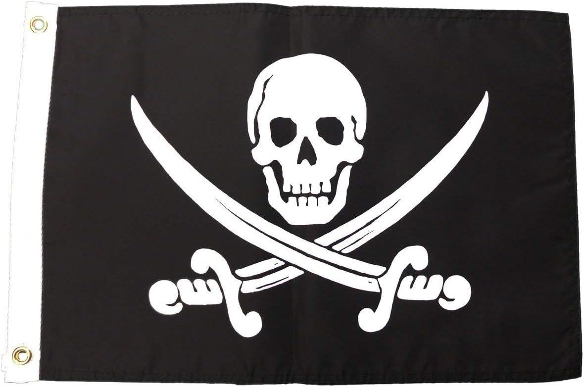 Pirate Jack Rackham Outdoor Garden Flag 12X18in