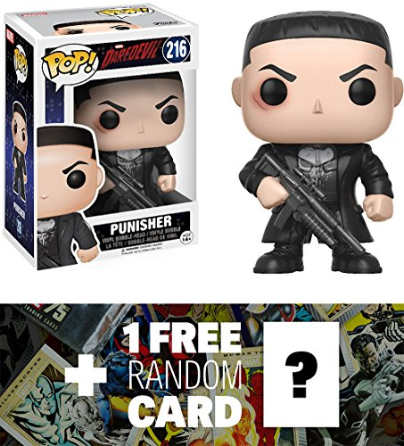 Punisher: Funko POP! Marvel x Daredevil Vinyl Figure + 1 FREE Official Marvel Trading Card Bundle (11092)
